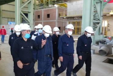 بازدید مدیرعامل محترم میدکو از پروژه های دردست اجرا در مجتمع فولاد بوتیا(29 مهرماه)